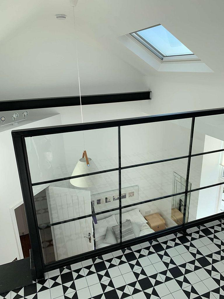 View of downstairs from the loft conversion