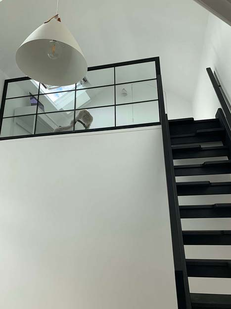 Loft conversion from below ladders