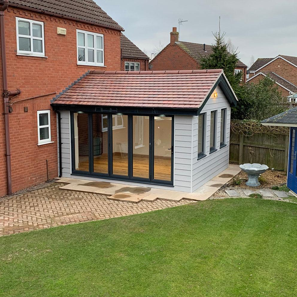 Conservatory conversion from the outside