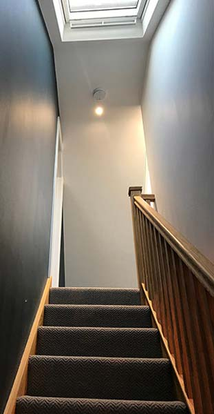 Staircase leading to loft conversion