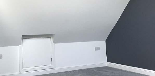 Finished loft conversion into bedroom