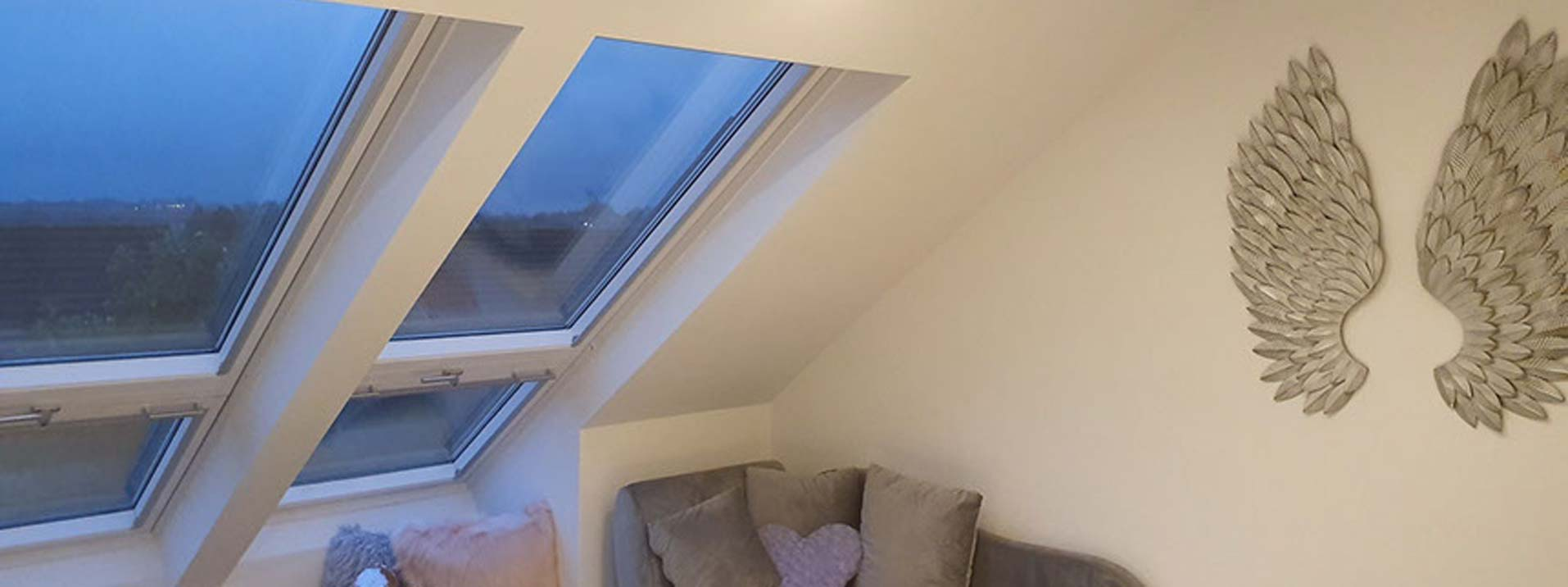 Completed loft conversion with velux windows