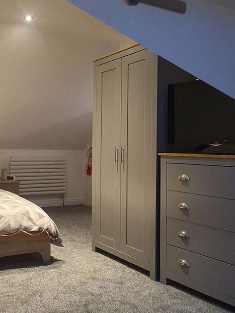 Inside of a completed loft conversion bedroom